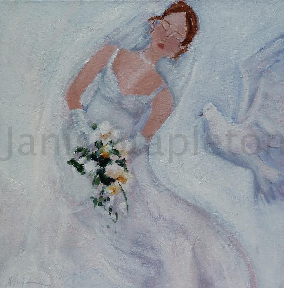 Bride and White Dove